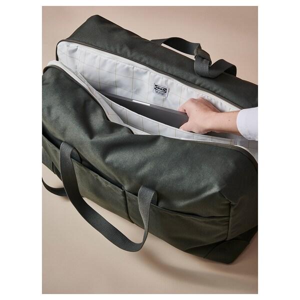 DRÖMSÄCK Wochenendtasche, olivgrün/schwarz, 42 l