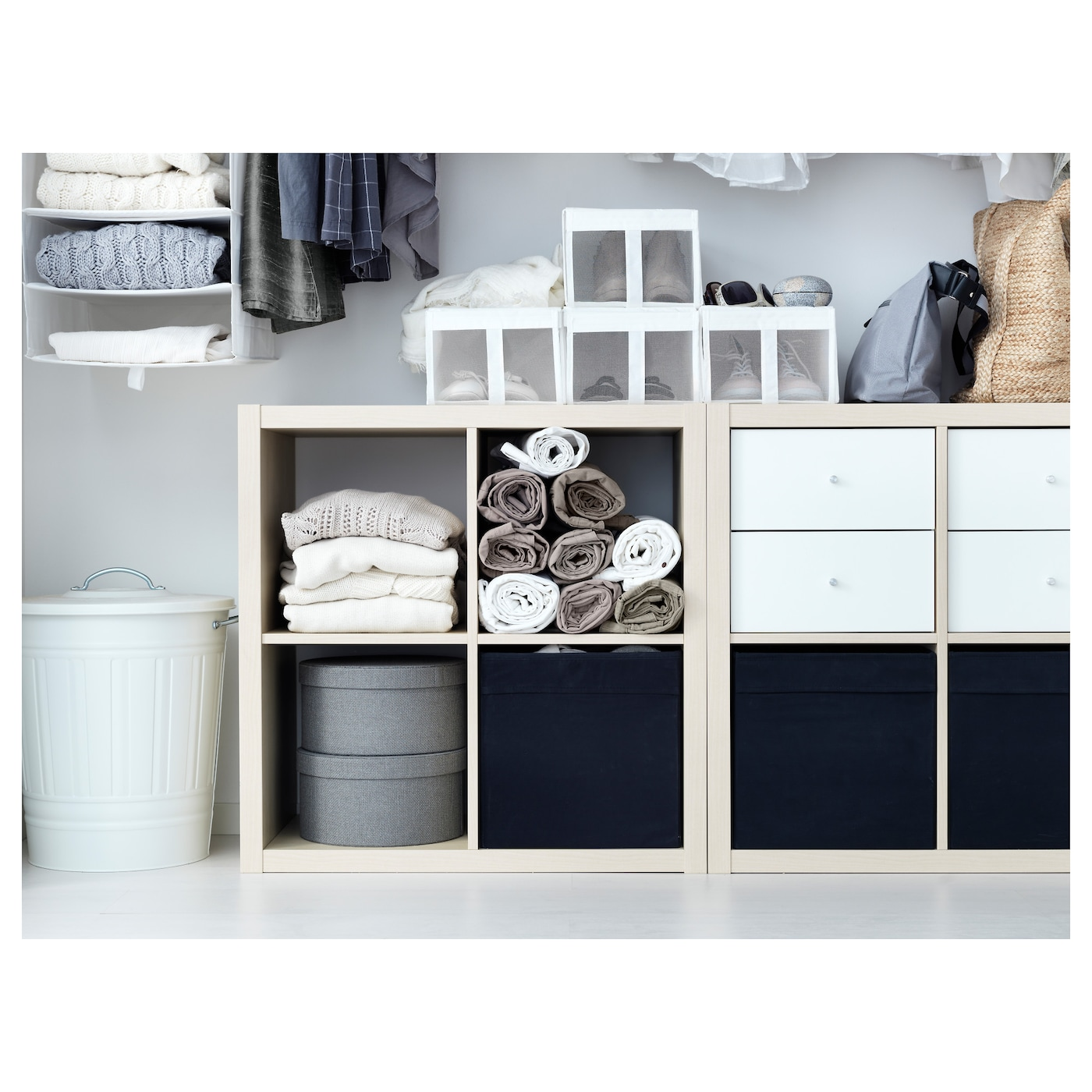 IKEA DRÖNA schwarz-beige geblümt Box Kallax Regal Aufbewahrung Kiste Boxen NEU