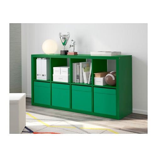 ikea dr na fach box f r expedit kallax regal kiste aufbewahrungsbox 33x33cm gr n ebay. Black Bedroom Furniture Sets. Home Design Ideas