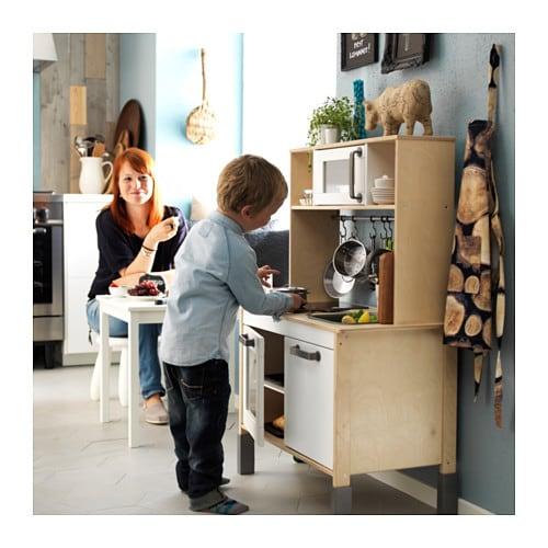 ikea duktig spielk che kochen kinderk che ofen herd sp le schrank spielzeug neu ebay. Black Bedroom Furniture Sets. Home Design Ideas