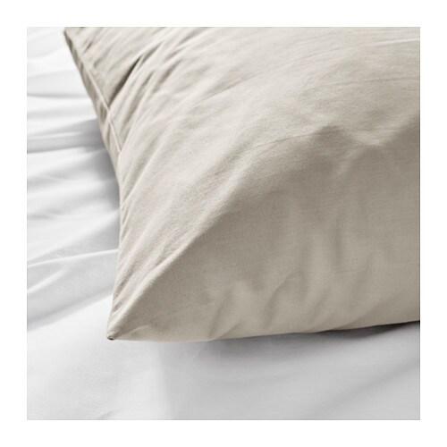 ikea dvala 2er pack 40 80 cm beige kopfkissenbezug. Black Bedroom Furniture Sets. Home Design Ideas