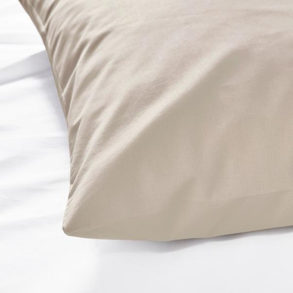 DVALA Kopfkissenbezug, beige, 40x80 cm