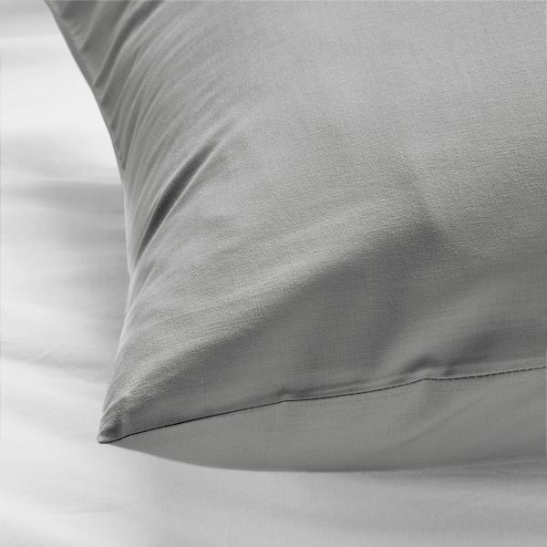 DVALA Kopfkissenbezug, hellgrau, 80x80 cm