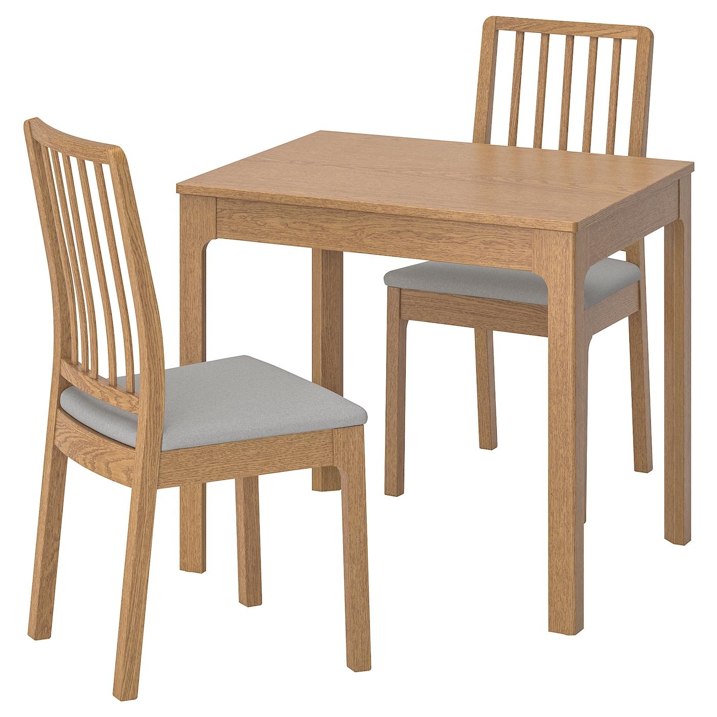 EKEDALEN / EKEDALEN, Tisch und 2 Stühle, Eiche, hellgrau 992.213.90