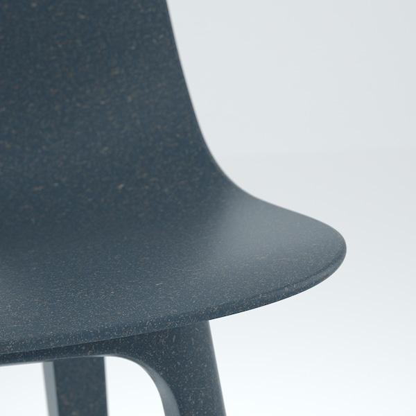 EKEDALEN / ODGER Tisch und 4 Stühle, Eiche/blau, 120/180 cm