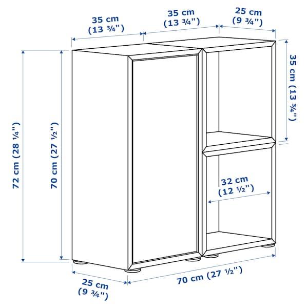 EKET Schrankkombination/Füße weiß/grau 70 cm 70 cm 25 cm 72 cm