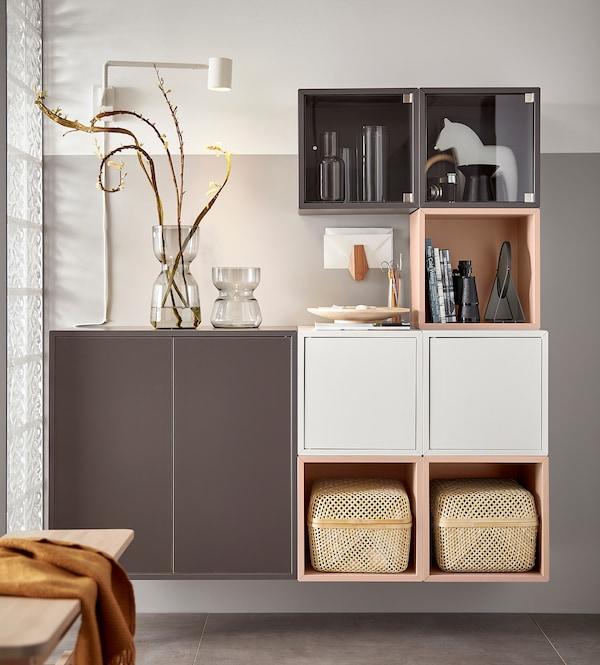EKET Schrank, blassrosa, 35x25x35 cm