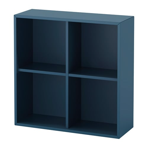 eket schrank mit 4 f chern dunkelblau ikea. Black Bedroom Furniture Sets. Home Design Ideas