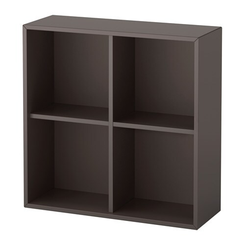 eket schrank mit 4 f chern dunkelgrau ikea. Black Bedroom Furniture Sets. Home Design Ideas
