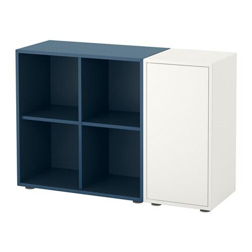 eket schrankkombination f e wei dunkelblau ikea. Black Bedroom Furniture Sets. Home Design Ideas