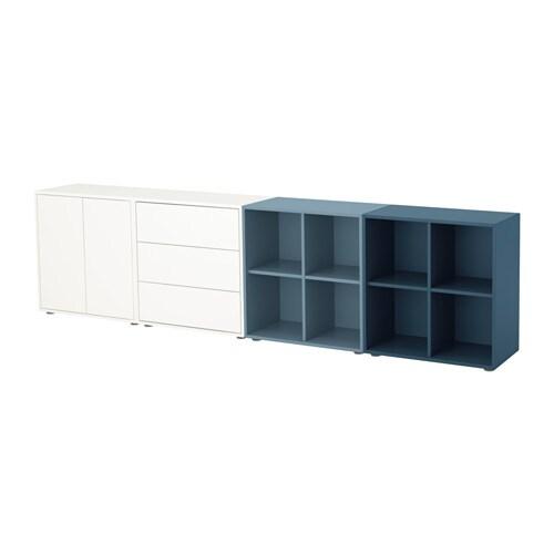 eket schrankkombination f e wei hellblau dunkelblau ikea. Black Bedroom Furniture Sets. Home Design Ideas