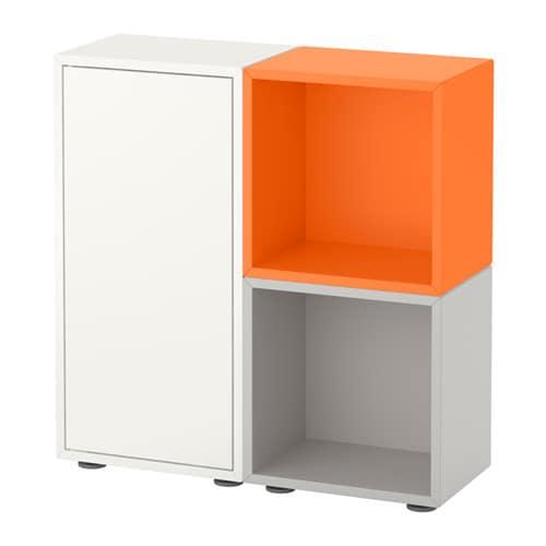 eket schrankkombination f e wei orange hellgrau ikea. Black Bedroom Furniture Sets. Home Design Ideas