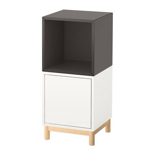 eket schrankkombination untergestell wei dunkelgrau ikea. Black Bedroom Furniture Sets. Home Design Ideas