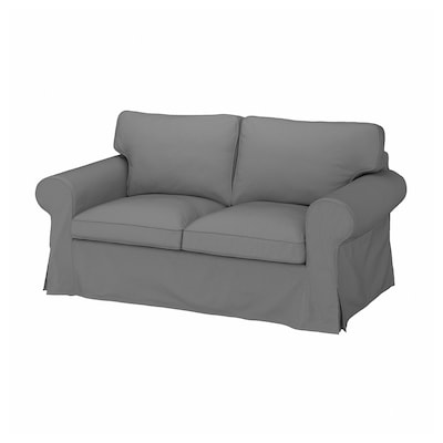 EKTORP 2er-Sofa, Remmarn hellgrau