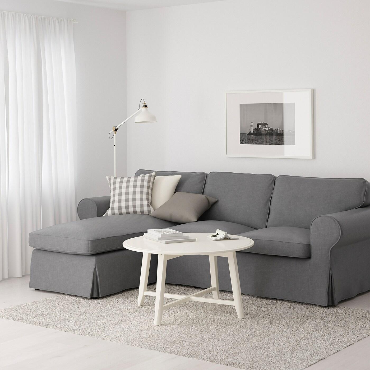 Ektorp 3er Sofa Mit Recamiere Nordvalla Dunkelgrau Ikea Deutschland