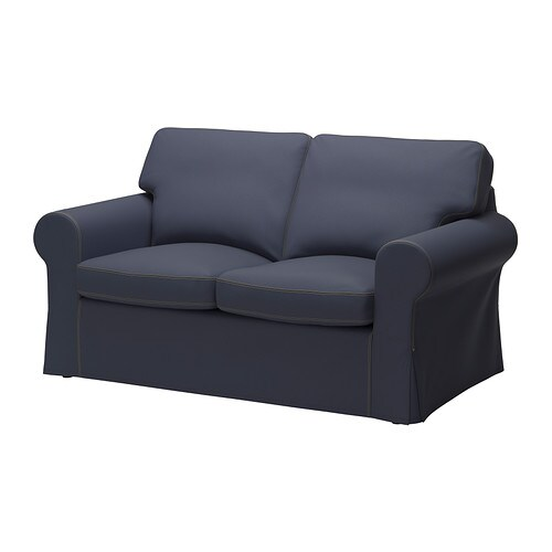 ektorp bezug 2er sofa jonsboda blau ikea. Black Bedroom Furniture Sets. Home Design Ideas