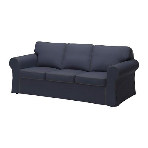 ektorp bezug 3er sofa jonsboda blau ikea. Black Bedroom Furniture Sets. Home Design Ideas