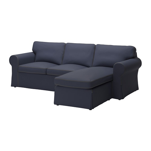 ektorp bezug 2er sofa mit r camiere jonsboda blau ikea. Black Bedroom Furniture Sets. Home Design Ideas