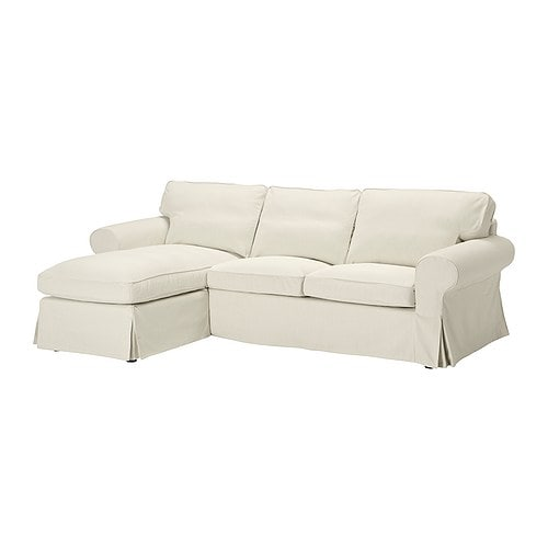 ektorp bezug 2er sofa mit r camiere svanby beige ikea. Black Bedroom Furniture Sets. Home Design Ideas