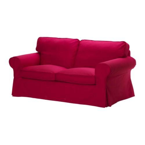 ektorp bezug 2er sofa idemo rot ikea. Black Bedroom Furniture Sets. Home Design Ideas