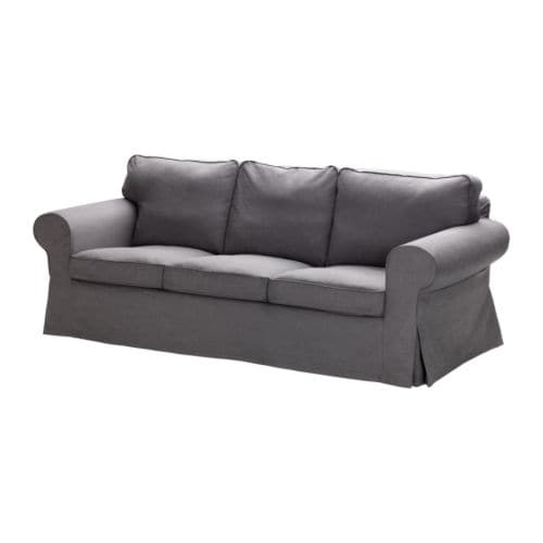 ikea ektorp bezug 3er sofa svanby grau 0 00 g nstiger bei. Black Bedroom Furniture Sets. Home Design Ideas