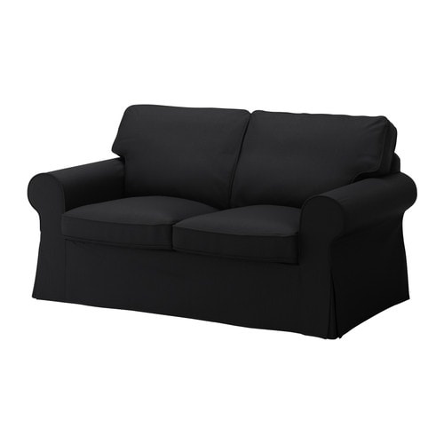 ektorp bezug 2er sofa isefall schwarz ikea. Black Bedroom Furniture Sets. Home Design Ideas