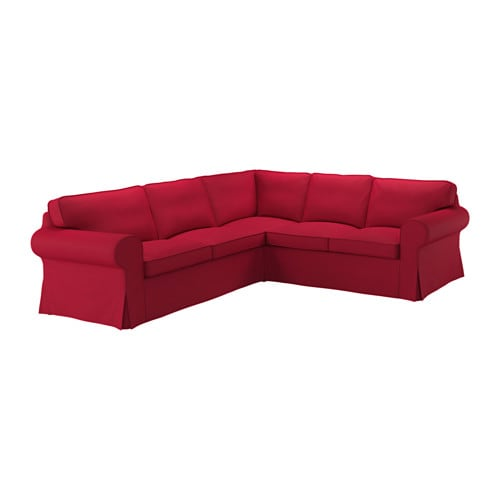 ektorp bezug f r ecksofa 2 2 nordvalla rot ikea. Black Bedroom Furniture Sets. Home Design Ideas
