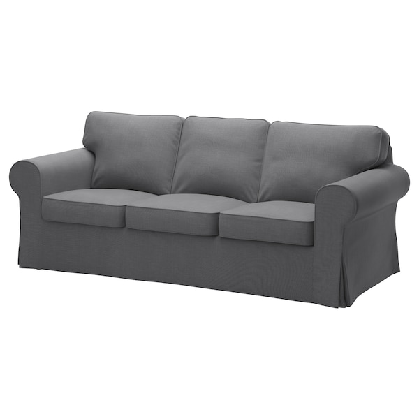 EKTORP Bezug 3er Sofa Nordvalla dunkelgrau IKEA