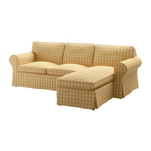 Ektorp 3er Sofa Mit Recamiere Skaftarp Gelb Ikea