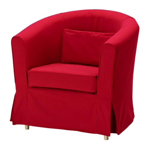 ektorp tullsta bezug sessel idemo rot ikea. Black Bedroom Furniture Sets. Home Design Ideas