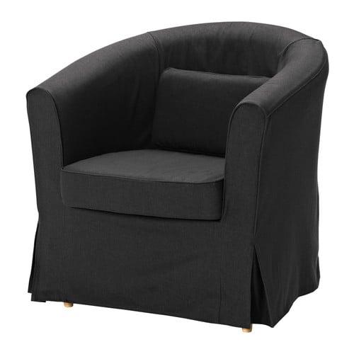ektorp tullsta bezug sessel idemo schwarz ikea. Black Bedroom Furniture Sets. Home Design Ideas