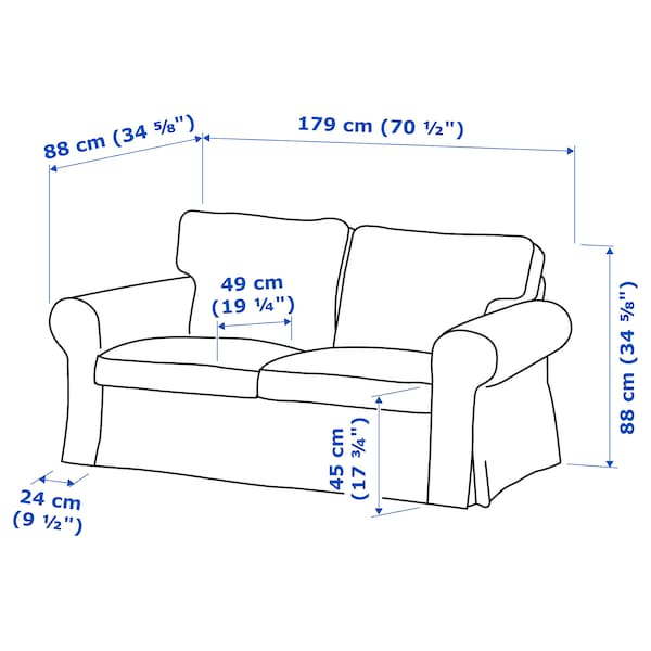 IKEA EKTORP 2er-sofa