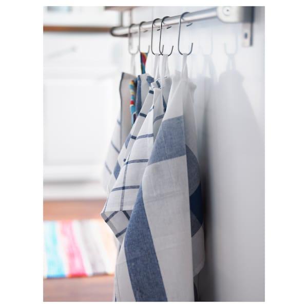 ELLY Geschirrtuch weiß/blau 65 cm 50 cm 4 Stück