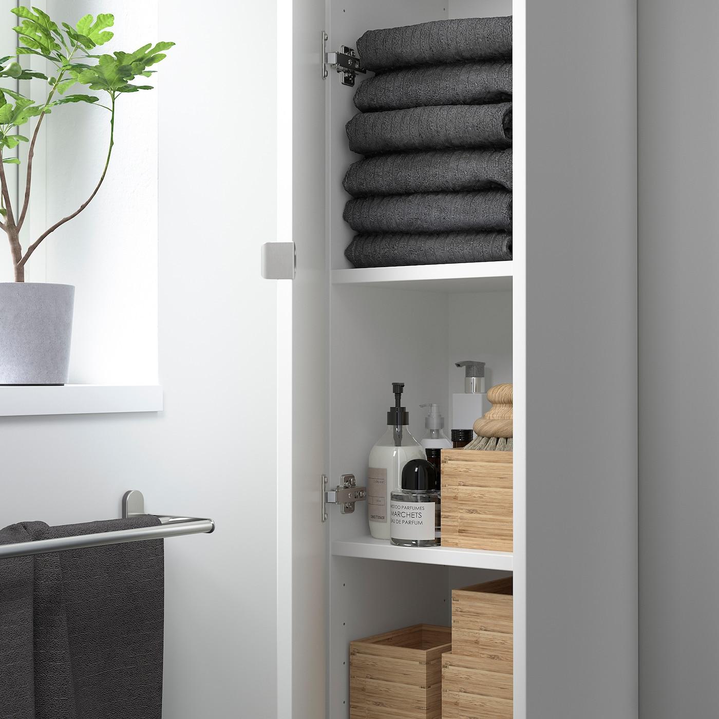 ENHET Hochschrank mit 20 Böden+Türen   weiß 20x20x20 cm