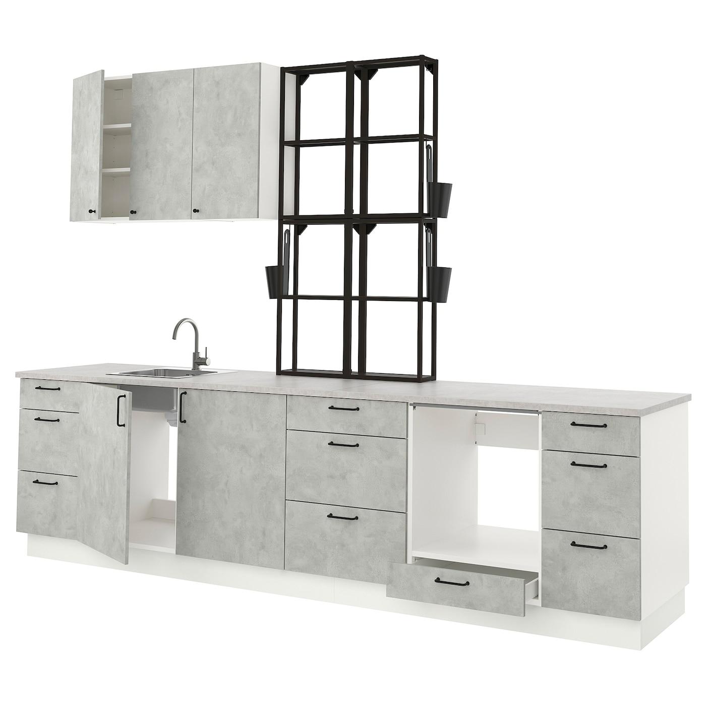 ENHET Küche - anthrazit, Betonmuster - IKEA Deutschland