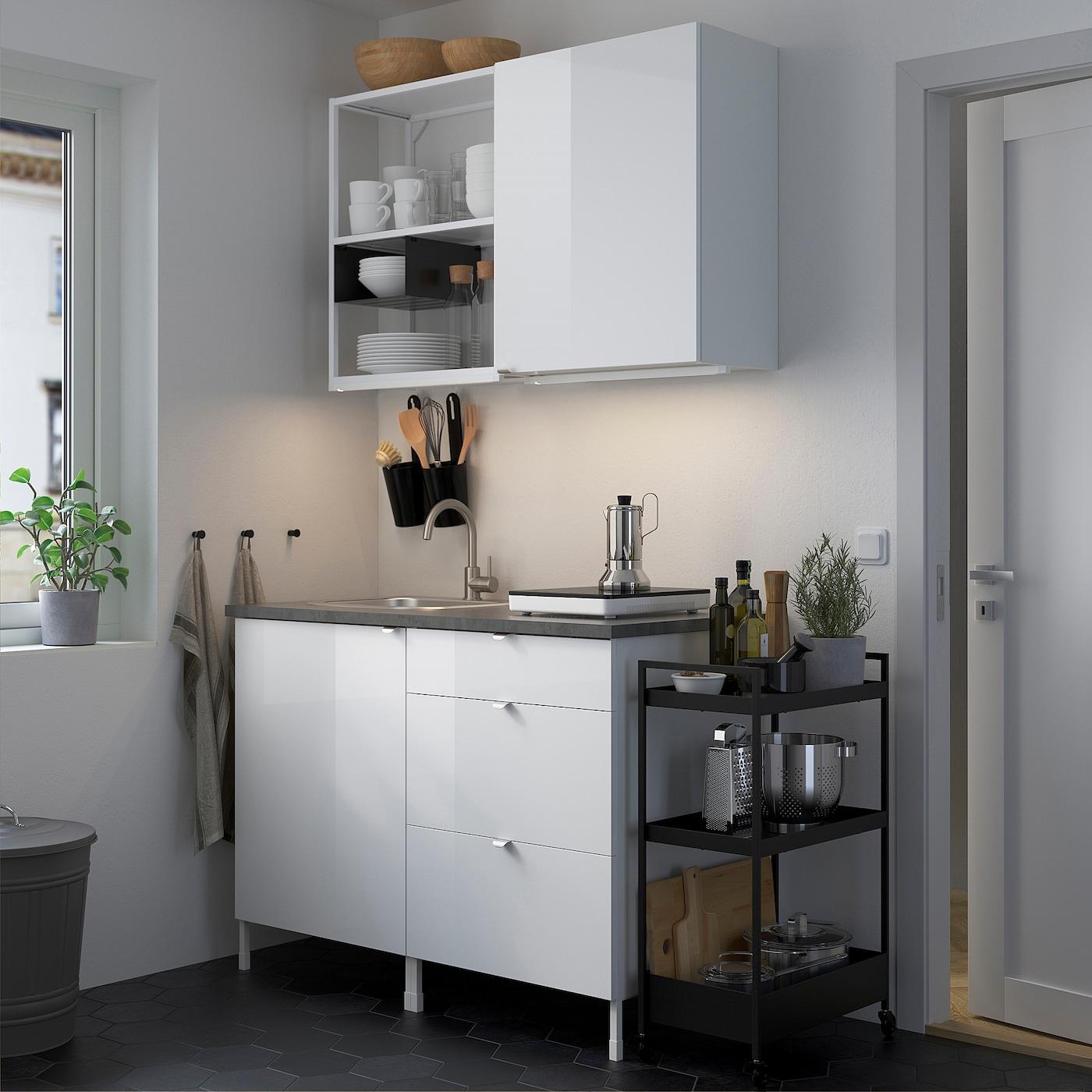 ENHET Küche   weiß, Hochglanz weiß   IKEA Deutschland