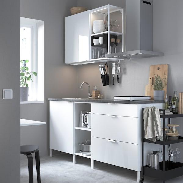 ENHET Küche - weiß, Hochglanz weiß - IKEA Deutschland