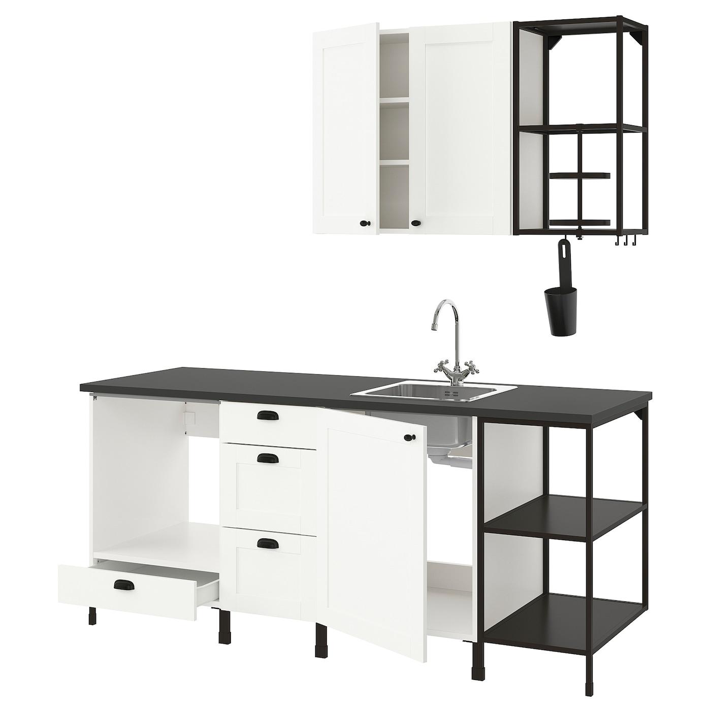ENHET Küche - anthrazit, weiß Rahmen - IKEA Deutschland