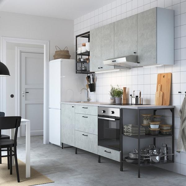 ENHET Küche - anthrazit/Betonmuster - IKEA Deutschland