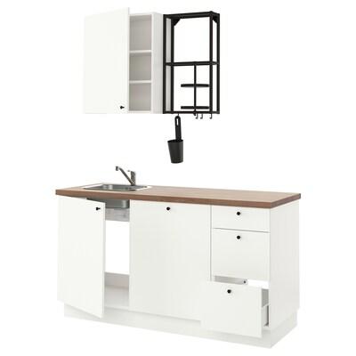 ENHET Küche, anthrazit/weiß, 163x63.5x222 cm