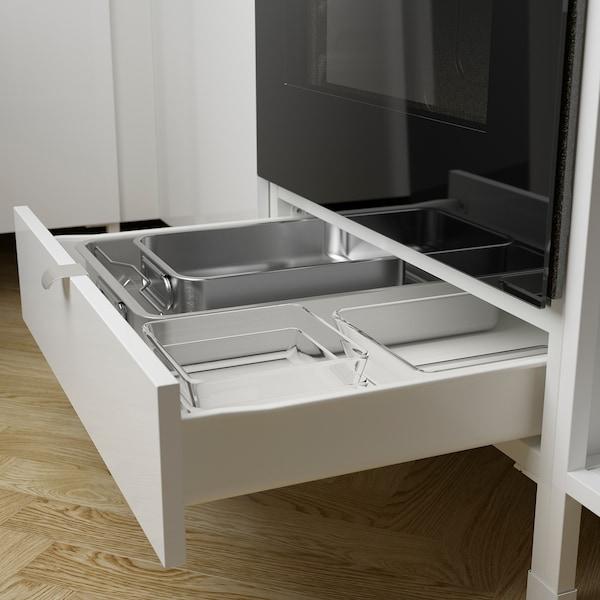 ENHET Küche, weiß/Hochglanz weiß, 243x63.5x241 cm