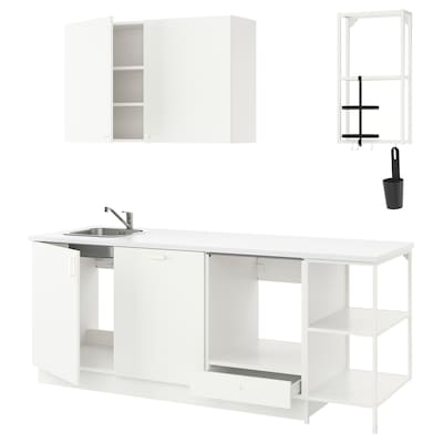 ENHET Küche, weiß, 223x63.5x222 cm