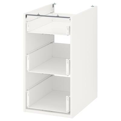 ENHET Unterschrank mit 3 Schubladen, weiß, 40x60x75 cm