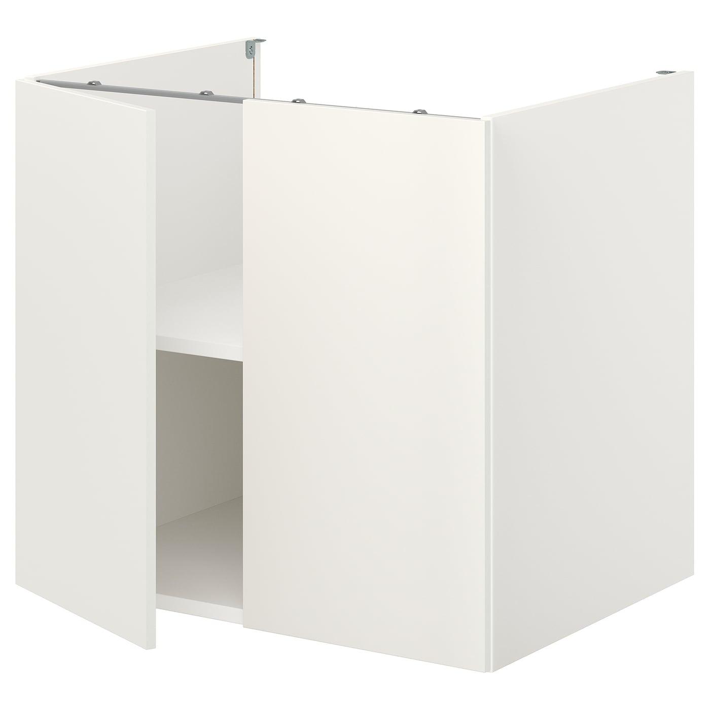 ENHET Unterschrank mit Boden/Türen   weiß 20x20x20 cm