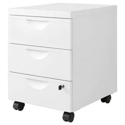 ERIK Rollcontainer mit 3 Schubladen, weiß, 41x57 cm