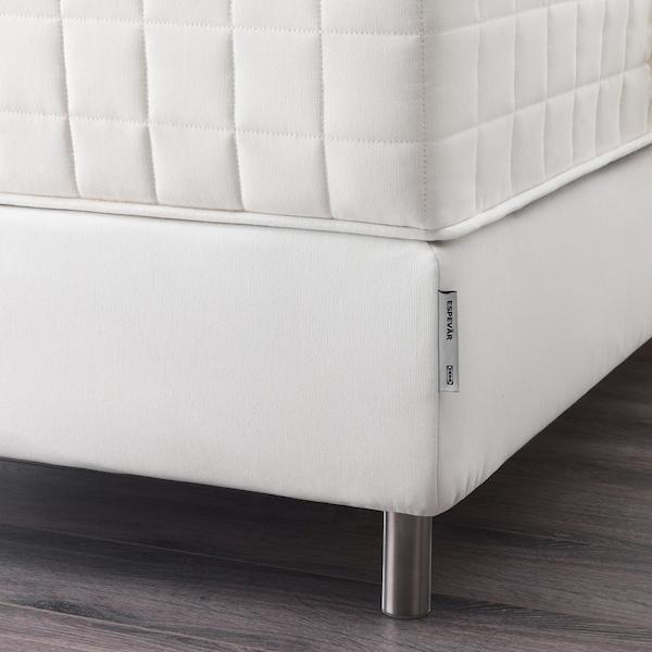 ESPEVÄR Bettpodest mit Lattenrost, weiß, 140x200 cm