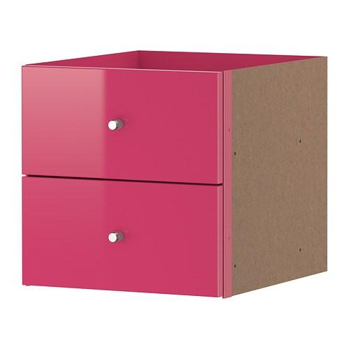 ikea expedit einsatz mit 2 schubladen zubeh r f r regal ebay. Black Bedroom Furniture Sets. Home Design Ideas