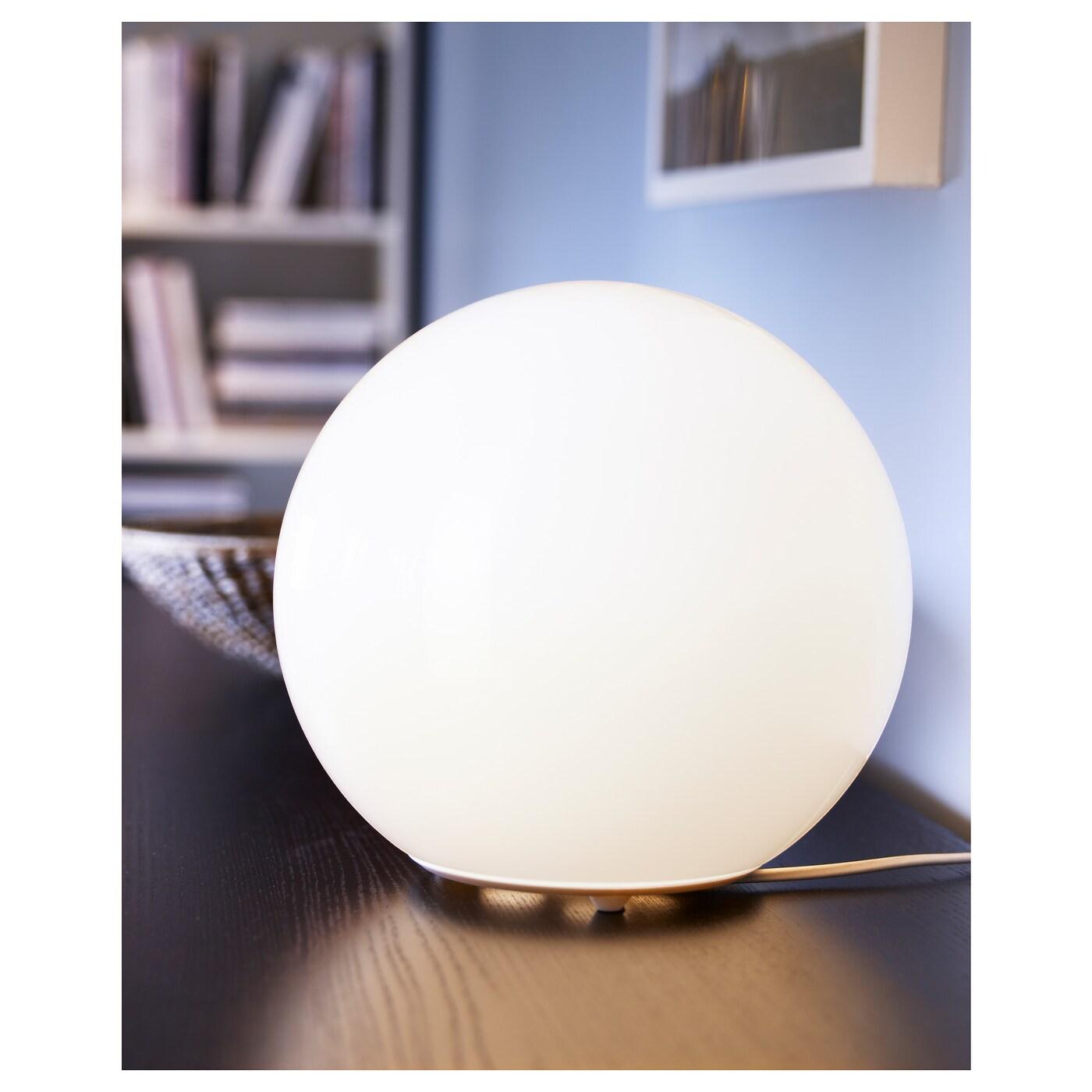 LED Kugel Nachttischleuchte Metall mit Glasschirm Kugelleuchten fürs Wohnzimmer