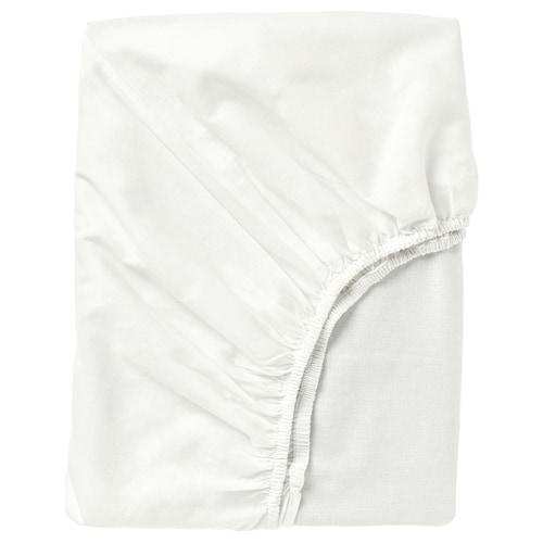 FÄRGMÅRA Spannbettlaken weiß 104 Quadratzoll 200 cm 140 cm