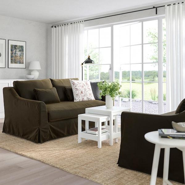FÄRLÖV 2er-Sofa, Djuparp dunkel olivgrün